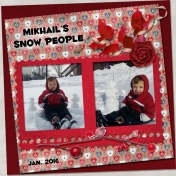 Mikhail's snow people