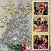 2013 Christmas Layout- The Gift of Family, page 2 of 3