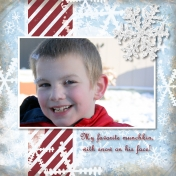 My Son in the Snow