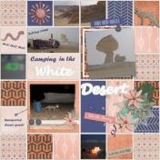 White Desert Camping