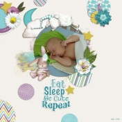 Eat sleep be cute repeat (Sweet Dreams)