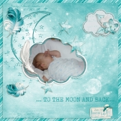 To the moon & back (Galaxy Teal)