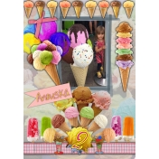 Ice cream birthday card for Anouska