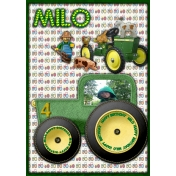 Milo-Tractor birthday card
