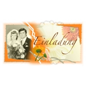 Invitation Card Front to the Silver Wedding