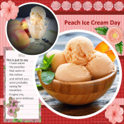 The Peach Ice Cream Day