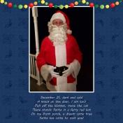 Santa came to see me