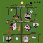 Snowman Gifts Tree