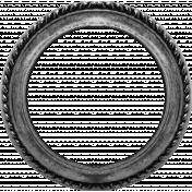 Vintage Circular Frame Template