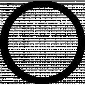 Circular Frame Shape Template