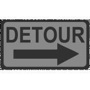 Detour Sign Template