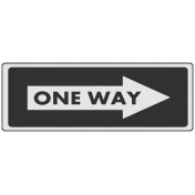 One Way Sign Template