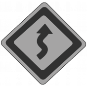 Curves Ahead Sign Template