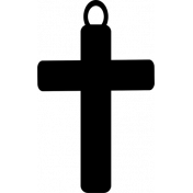 Cross Charm Shape Template