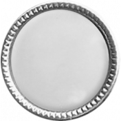 Silver Rimmed Pearl Button Template