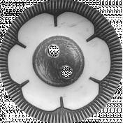 Button Template- Set V#01- Vintage Button #02
