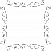 Border Swirl Doodle Template