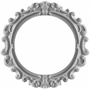 Ornate Round Frame Template