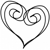 Doodle Hearts 12 Template
