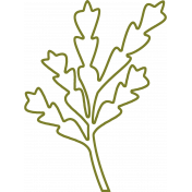 Leafy Branch Outline 07- Template