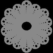 Scalloped Circles Doily Shape Template