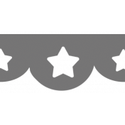Scalloped Star Border Shape Template