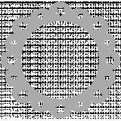 Scalloped Star Frame Shape Template