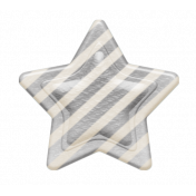 Striped Star Button Template