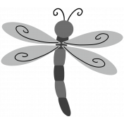 Pond Life Dragonfly Template