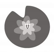 Pond Life Water Lily on Lily Pad Template