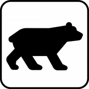 Recreational Icon Brush/PNG Template- Bear