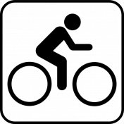 Recreational Icon Brush/PNG Template- Biking