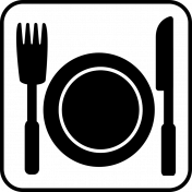 Recreational Icon Brush/PNG Template- Food