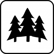 Recreational Icon Brush/PNG Template- Forest