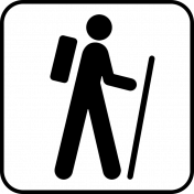 Recreational Icon Brush/PNG Template- Hiking