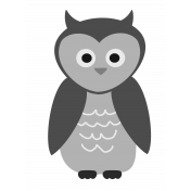 Outdoor Adventures- Layered Template- Owl