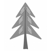 Outdoor Adventures- Layered Template- Pine Tree 03