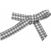 Outdoor Adventures- Element Template- Gingham Bow