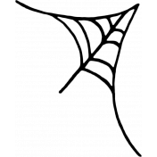 Spookalicious- Corner Web Doodle