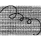 Spookalicious- Pumpkin Vine Scribble Doodle 04