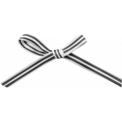 Spookalicious- Element Templates- Striped Bow