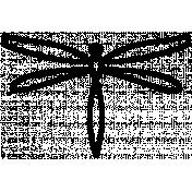 Dragonfly Shape 01- Outline