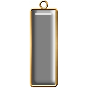 Rectangle Brad 11- Gold