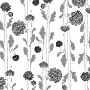 Floral 44 Paper Template