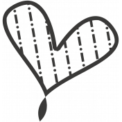 Pencil- Heart Stamp