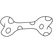 Pet Illustration 006 - Polka Dot Bone