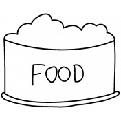 Pet Illustration 012- Food Dish