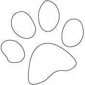 Pet Illustration 013- Paw Outline Print