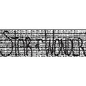 Brush 027- Star Of Wonder 007 Word Art- Star of Wonder