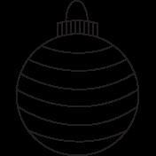 Deck The Halls- Ornament 001b Illustration